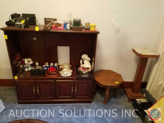 """Entertainment Center 49"""" x 16"""" x 49"""", Wooden Side Table, Plant Stand"""
