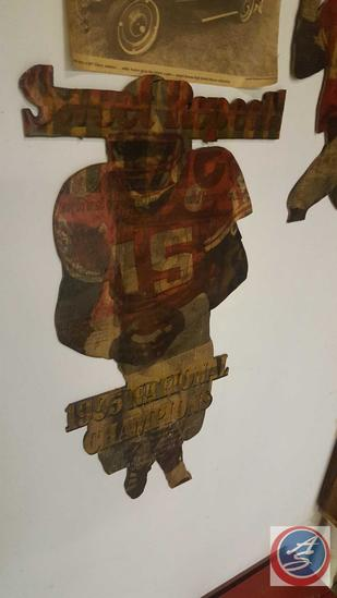1995 National Champions Nebraska Huskers Handmade Wooden Cutout Wall Hangings of #15, Woodworkers