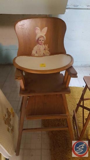 Vintage High Chair, Vintage Playpen