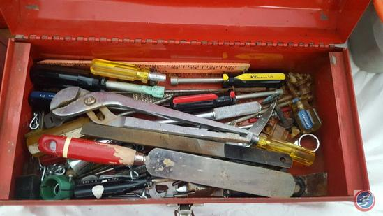 (2) Metal Tool Boxes {{CONTENTS INCLUDED}}