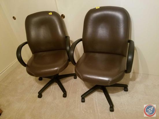 {{2XBID}} (2) Hon Co. Rolling Swiveling Office Chairs