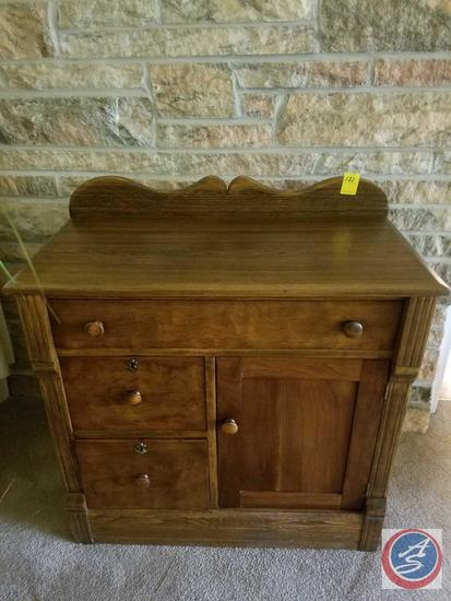 "Buffet with Three Drawers and a Cupboard 32"" x 17"" x 34"""