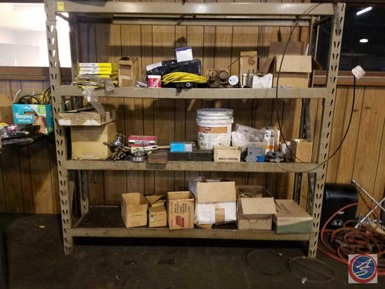 "Three Tier Metal Shelf {{TOP SHELF MISSING}} 77 1/4"" x 17 1/4"" x 72"","