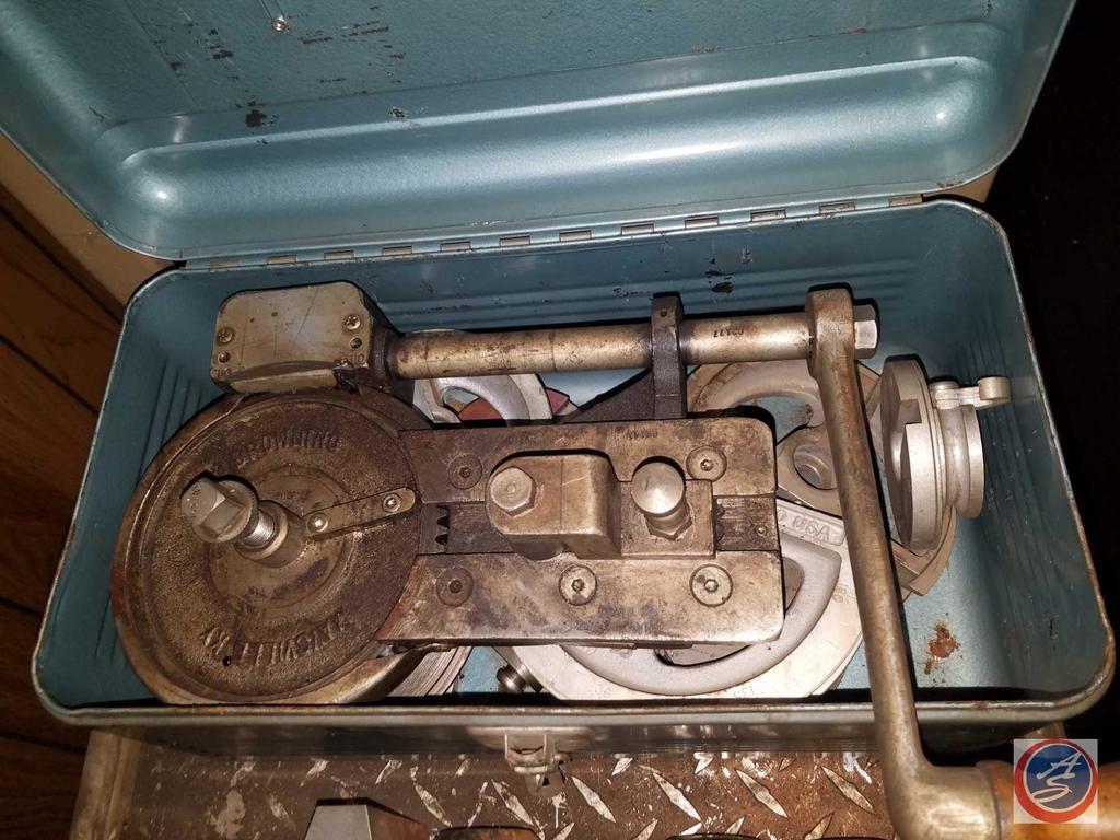 Imperial Eastman Vintage Tool Box with Vintage Imperial Eastman Pulley Tool