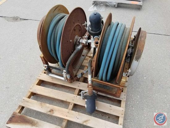 (2) Hannay 800 series Hose Reels model 820-25-26A SR with air hose.