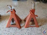 (2) Astroline 5 Ton Heavy Duty Jack Stand Model No. AJS-6W