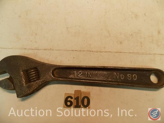 Crescent Wrench 12 in. marked 'B&C No 80'
