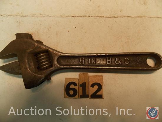 Crescent Wrench 8 in. marked '8 in B&C'