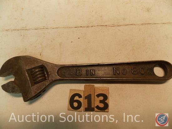 Crescent Wrench 8 in. marked '8 in No 80 B&C'
