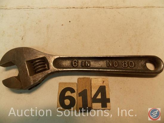 Crescent Wrench 6 in. marked '6 in No 80 B&C'