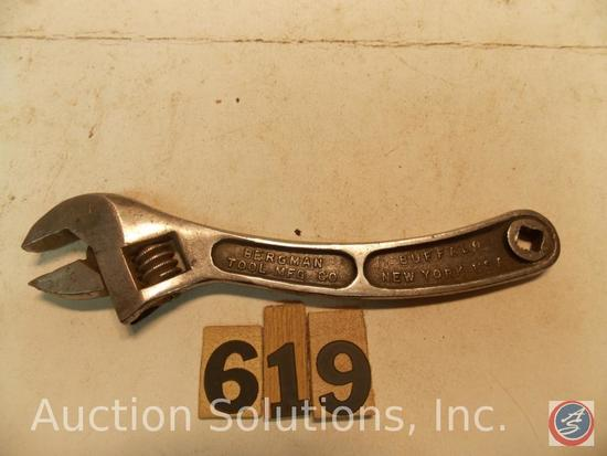 Crescent Wrench 6 in. marked 'Bergman Tool Mfg Co Queen City'