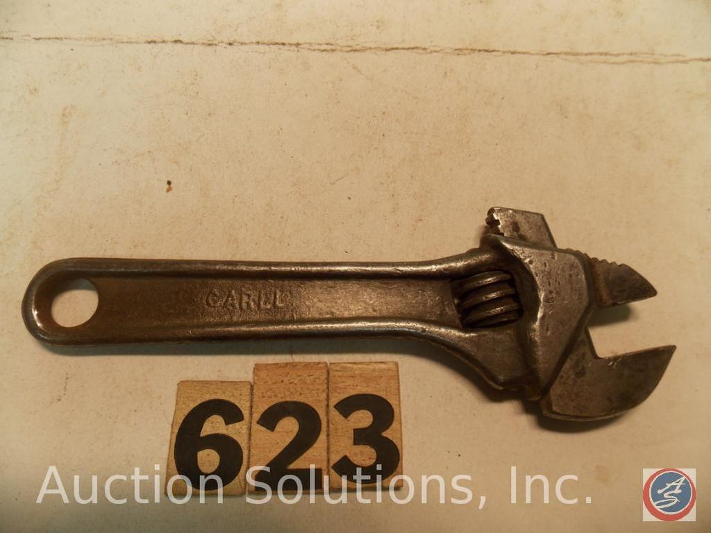 Crescent Wrench 6 in. marked 'CARLL', combo Pipe Wrench