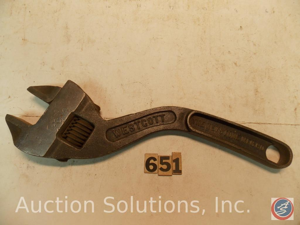 Crescent Wrench 14 In Marked Westcott 14 In No 84 Keystone Mfg Co Buffalo Ny Usa Art Antiques Collectibles Antiques Antique Tools Auctions Online Proxibid