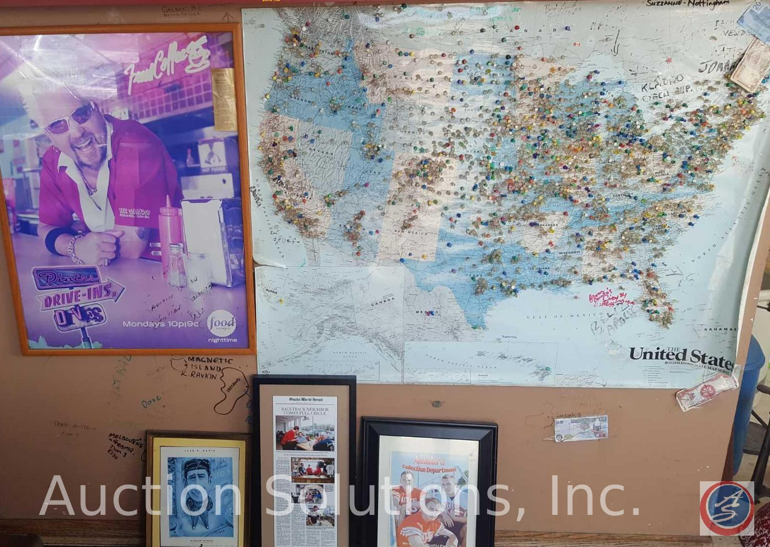 Guy Fieri Diners Drive-Ins and Dives poster map of the ... on