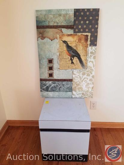 """Canvas Print Wall Hanging 24?"""" x 36"""", Side Table 18"""" x 18"""" x 20"""""""