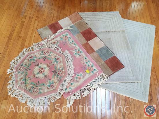 (5) Small Rubber Backed Area Rugs