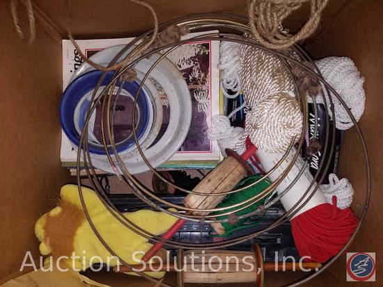 Macrame Jute Twines, Sanyo Model M7024A Boom Box, Rings, Lace Curtains, More
