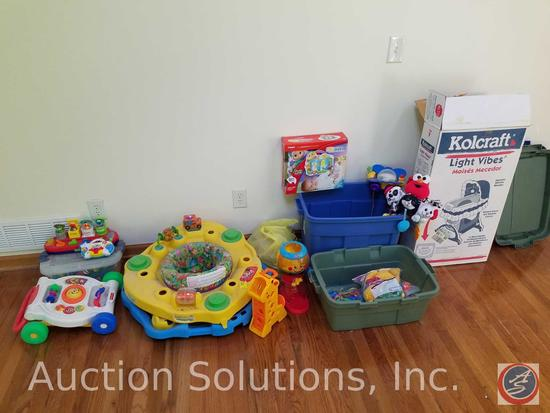 Kolcraft Light Vibes Bassinet in Original Box, Baby Play Mat, Baby Spinning and Standing Station,
