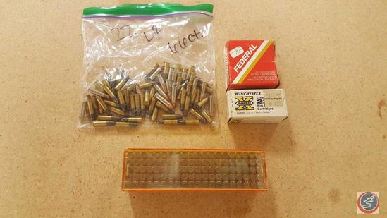 Assorted CCI and Remington .22 Cal. LR ammo (66 rounds), 50 gr. Metal Case 25 Auto ammo (19 rounds),