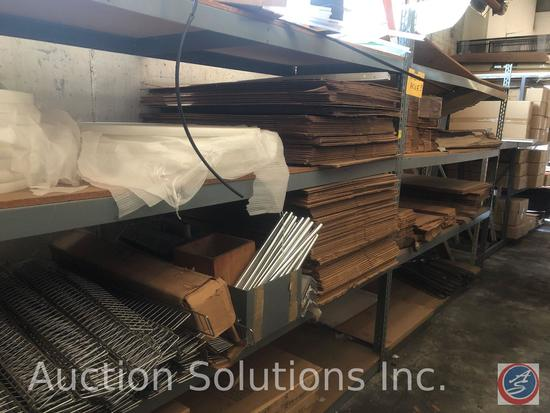 Boltless Pallet Racking (2) 7' Uprights, (6) 8' Rails {{CONTENTS NOT INCLUDED}}