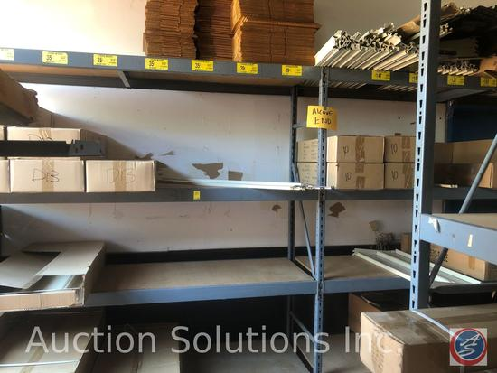 {{2x$BID}} Lozier Widespan Pallet Racking (2) 7' Uprights, (1) 8' Upright' (16) 8' Rails {{CONTENTS