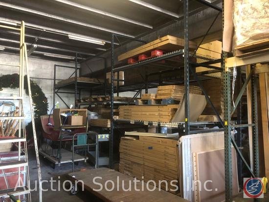"""{{3x$BID}} Pallet Racking (4) 12' Uprights (12) 8' 4"""" Rails {{CONTENTS NOT INCLUDED}}"""
