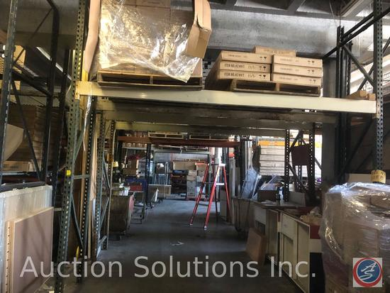"""{{2x$BID}} Teardrop Pallet Racking (4) 12' Uprights, (4) 11' 6"""" Rails {{CONTENTS NOT INCLUDED}}"""