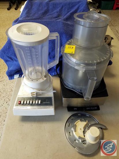 CuisinArt Model DFP-14BCN 14-Cup Food Processor, and a Hamilton Beach Model 600-6 Blender