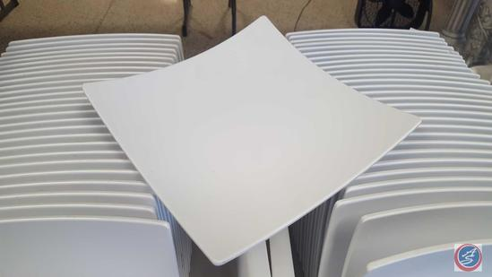 {{2X$BID}} (55) Thunder Group Square White Plates