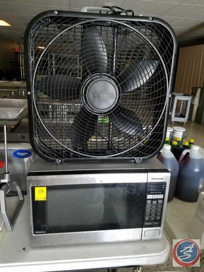 Panasonic Inverter Microwave Oven Model No. NN-SA6515, Lasko Box Fan