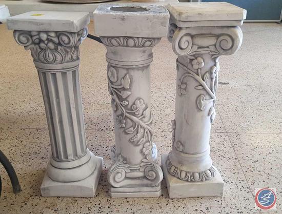 (3) Decorative Plaster Pillars, At Home Decorative Lighting, Icicle Decorative Lighting, Menu Board,