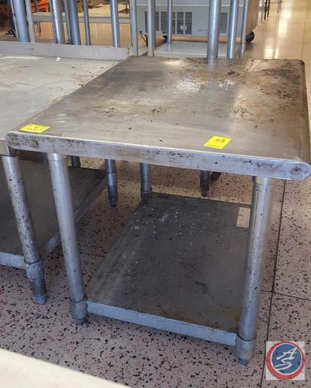 "Stainless Steel Equipment Base w/ Shelf 30"" x 24"" x 24"""