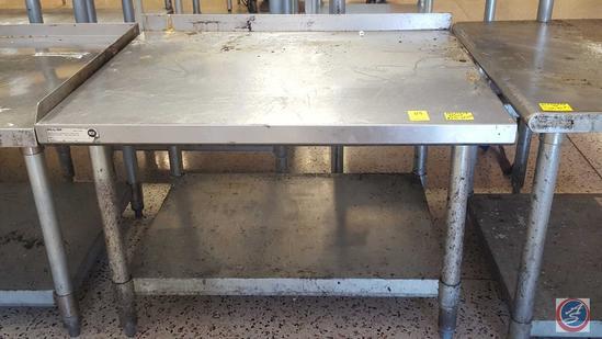 "Stainless Steel Equipment Base w/ Back Splash and Shelf 36"" x 30"" x 23"""