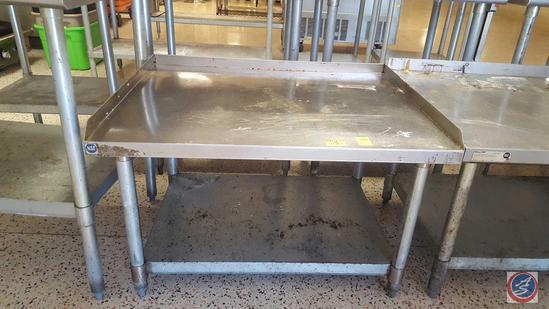 "Stainless Steel Equipment Base w/ Back Splash and Shelf 36 1/2"" x 30"" x 23"""