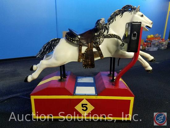 Vintage Stallion Coin Op Kiddie Ride; Equipped with Intercard Card Reader {{ORIGINAL COIN BOX