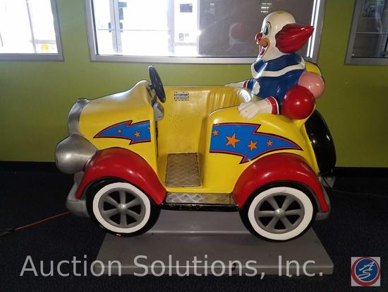 Bozo the Clown Kiddie Ride with Intercard Reader {{SOME GAMES MAY STILL HAVE COIN OP MECHANISMS