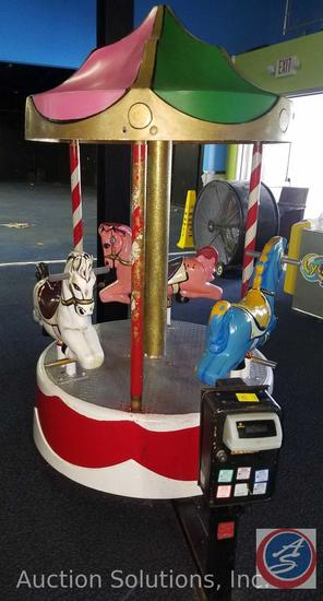 Merry-go-Round Ride with Intercard Reader {{SOME GAMES MAY STILL HAVE COIN OP MECHANISMS INSTALLED}}