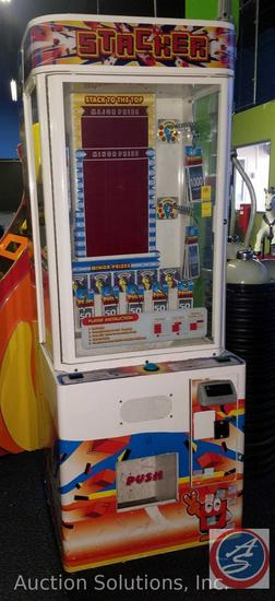 Stacker Arcade Model No. Stacker Prize with Intercard Reader {{SOME GAMES MAY STILL HAVE COIN OP