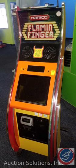 Namco Flamin Finger Arcade Game with Intercard Reader {{SOME GAMES MAY STILL HAVE COIN OP MECHANISMS