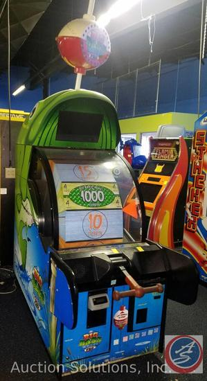 Big Bass Wheel Pro Arcade Game with Intercard Reader Model No. AAGM-PROTO2; Serial No.PROTO-3 {{SOME