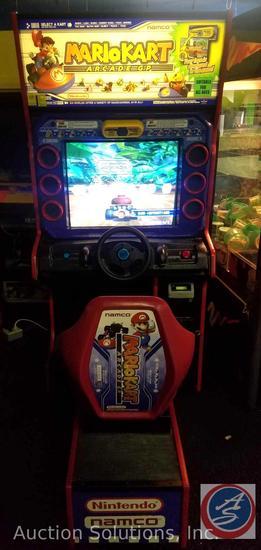 Mario Kart Arcade GP Model No. Mario KartSD Serial No. MKV320-SD0328 with Intercard Reader {{SOME