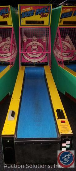 Skee Ball Too Arcade Game with Intercard Reader Serial No. 970314276 Model No. N1EN3AXOJM {{SOME