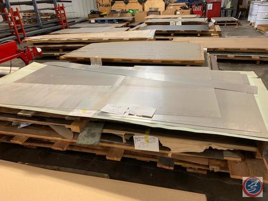 Large Lot of sheet metal, tubing, angle iron, and bar stock all new material, over 15,000.00