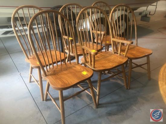 {{6x$BID}}(4) Amish Heirloom Collection Dining Room, (2) Amish Heirloom Captains Chairs, (1)