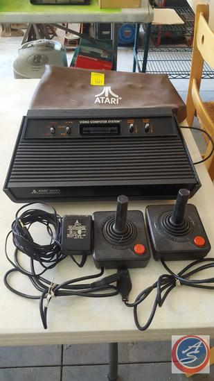 Atari Game Console Serial No. AT30313495 w/ (2) Joysticks and AC Adapter