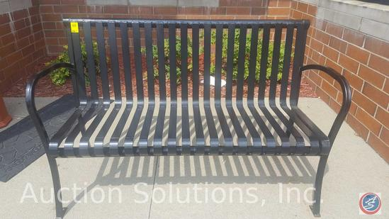 {2 x $ BID} Slat Metal Park Bench Seats w/ Arms by R&R Wilson Welding (Sold Times the Money)