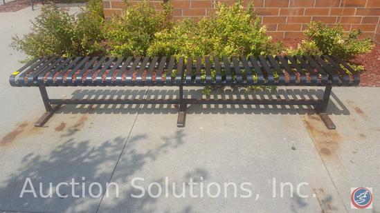 Slat Metal Reception Bench by R&R Wilson Welding