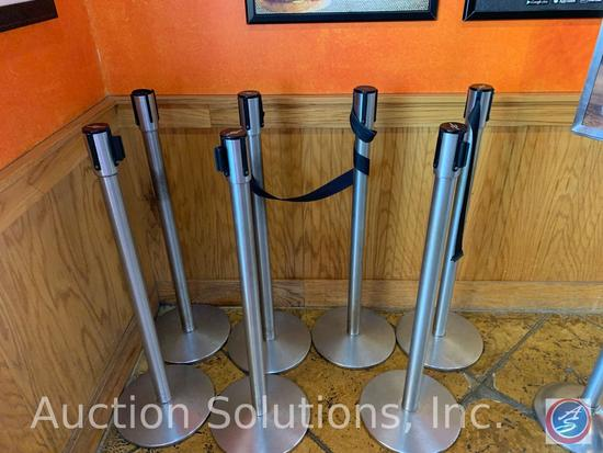 (7) Tensabarrier Stanchions and a Free Standing Sign Holder
