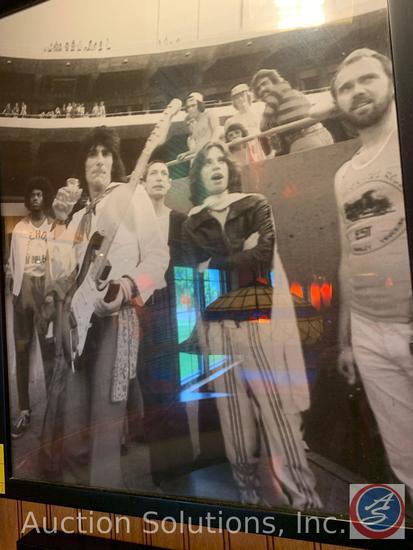 (5) Framed Vintage Photos of Rolling Stones