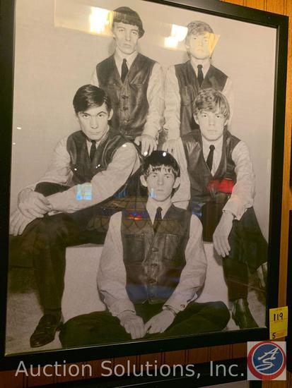 (5) Framed Vintage Photos of Rolling Stones